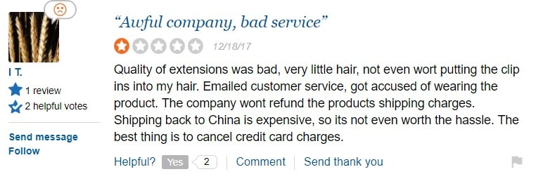 hair extension sale reviews