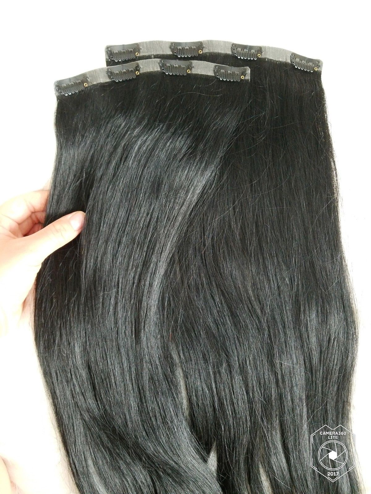 foxy locks hair jet black clip in